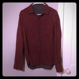 Other - Red and black checkered flannel shirt